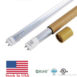 Wholesale Led Tube T8 18w Feet - Stock In US + 4ft led tubes T8 18W 20W 22W 4 feet led light tubes 96LEDs smd2835 Replacement regular Tubes Light AC 110-240V