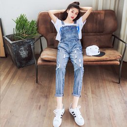 005c8761d350 Spring Summer Denim Jumpsuits Women 2018 Fashion Summer Long Pants Hole Jeans  Overalls For Women Jeans Bodysuits Ladies
