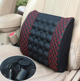 Wholesale Cares Car Seat - 12V Auto Car Seat pillow waist cushion headrest Universal Fit SUV sedans front back seat automotive parts massage health care
