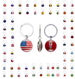 Llaveros de fútbol llavero con un patrón de banderas nacionales colgante en el encanto 2018 aficionados de fútbol taza ideas hechas a mano por DHL desde fabricantes