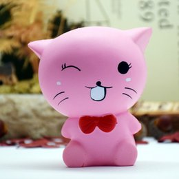 Wholesale Car Craft Models - Squishy Resin Craft PU Slow Rebound Cartoon Furnishing Article Model Simulate Buck Toy Cute Expression Kitty