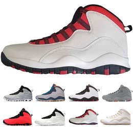 03478c3091e11f Cement Westbrook X I m back 10 10s Men Basketball Bobcats Chicago Cool Grey  Powder Blue Steel Grey black white Shoes sport sneakers 41-47 affordable  sports ...