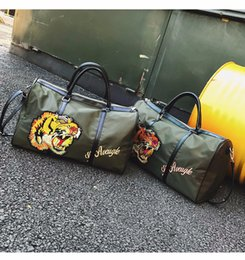 Wholesale korean bags black tote - Pink sugao travel new style Korean Embroidered tiger sport purses and handbags nylon large capacity luxury travel bag