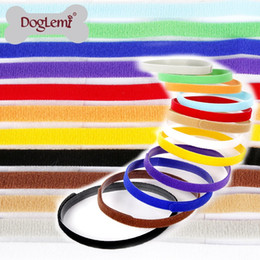 Wholesale Large Pet Id Tags - Multi Colors Dog ID Collars Adjustable Nylon Pet Identity Tags Cute Washable Cat Puppy Neck Strap Creative 9pt B