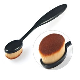Wholesale Camouflage Kit - New arrival 1pcs Plastic Camouflage Brush Synthetic Hair Makeup Brushes Sponge Powder Puff Kit Pinceis Maquiagem for Beauty