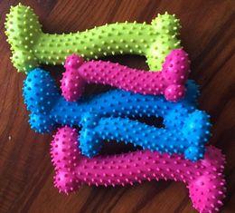 hundeknochen klingende spielzeug Rabatt Hund Spielzeug Haustier Kauen Gummi Quietschende Sound Spielzeug für Hund Lustige Spiele Interaktive Schnuller Knochen Doggy Toy Dog Produktion