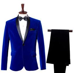 1bc1e8b805 Singer dance stage Vino rojo pana traje hombres ropa conjunto con pantalones  para hombre trajes de boda traje de moda vestido formal corbata rebajas  trajes ...