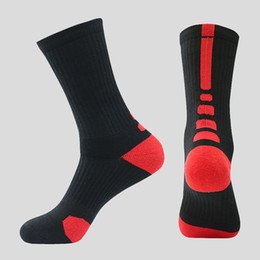 Wholesale Mens Socks For Winter - Professional Basketball Elite Socks Athletic Sport Short Socks Mens Fashion Compression Winter Thermal Socks for Men