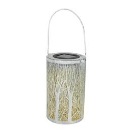 лесная лампа Скидка Светодиодный солнечный фонарь цилиндрический лес висит солнечный свет водонепроницаемый Lanscape лампа для патио двор сад