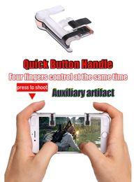 Controlador de realimentación de fuerza online-Disparador de juego de teléfono PUBG 1 par de controlador inalámbrico Force Feedback Game Assist Botón de sensibilidad para teléfono móvil