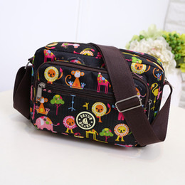 bag for mommy 2018 - Cute Animals Pattern Zipper Diaper Bags Fashion Nappy Bag For Mommy Outdoor Baby Changing Bag For Stroller mochila maternidade