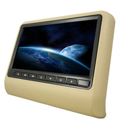 Wholesale Universal Headrest Dvd - 9inch Headrest Monitor with slot-in CAR DVD Player Built-in IR and FM Trasmitter USB SD Dual speaker
