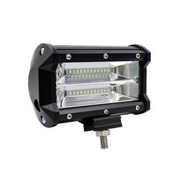 2019 bombilla led roja h4 Lámpara de tira larga de 5 pulgadas 72W LED de dos filas que trabaja y que cambia la lámpara larga del faro del vehículo a campo traviesa