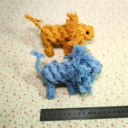 Types de poupées en Ligne-Lion Type Coton Corde Tricoté Poupée Pet Chew Molar Jouet Creative Chien Jouet De Dentition Jouets Chiens Fournitures Pour Animaux Jouant 5 8yf X