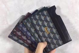 Billetera de cuero hecha a mano online-2018 escalas clásicas hechas a mano de cuero billetera de cuero paquete de la tarjeta titular de la tarjeta FlP