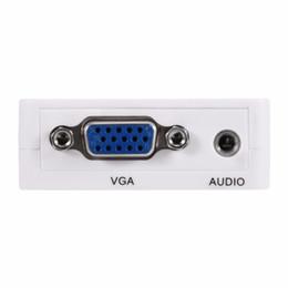 Câbles de projecteur pour pc en Ligne-VGA vers HDMI Convertisseur 1080P VGA2HM Adaptateur Câble d'alimentation audio pour PC portable DVD to HDTV Projector