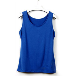 Wholesale Shaping Vest Women - Newest Summer Women Big Yards Wild Bottoming Shirt Sleeveless U-Shape Vest Loose Plus Size Solid Casual Womens Tank Tops Q4527