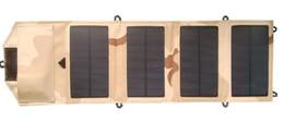 Sacos painéis solares on-line-Painel solar dobrável Monocrystalline da fábrica 7W + USB 5V + carregador de bateria solar do saco para Mobile / iPhone