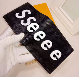 Кошелек европейского стиля онлайн-Европейский стиль дизайнер бренда бумажник моды для мужчин мини-кошелек pu материал кошельки мульти-карты открыть карты кошельки