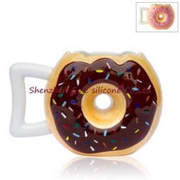 Wholesale Making Mugs - Donut Bread Ceramics Mug Hand Made Personality With Handle Coffee Cup Reusable Anti Wear Drinking Mugs Hot Sale