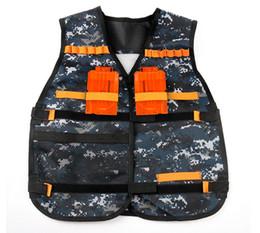Wholesale Trampoline Jumping - Darts Vest Tactical Vest Kids Toy Gun Clip Jacket Foam Bullet Ammunition Holder gifts for boys