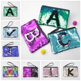Wholesale sparkle clutch purse - Reversible Sequins Clutch Bag Mermaid Makeup Bag Handbag Bling Glitter Evening Party Bag Sparkling Cosmetic Bags Kids Purse 120pcs OOA5216