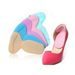 Chaussures talons en forme de t en Ligne-Semelle intérieure T-Shape Silicone Non Slip Coussin Pied Talon Protecteur Liner Chaussure Semelle intérieure Pads 2018 Nouveau EH048