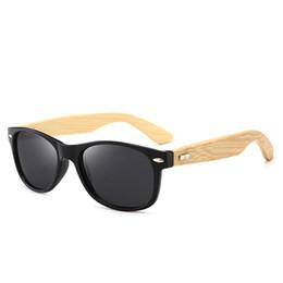 Alta qualità Brand Designer Fashion Bamboo supporto in legno Uomini Donne Plank telaio Rivestimento Occhiali da sole Drive Retro Occhiali da sole Con scatola cheap bamboo planks da tavole di bambù fornitori