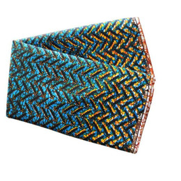 Wholesale Wholesale Fabric Sewing Material - african wax 100% Cotton Fabric for dress shirt clothes scarf Handmade Sewing Material DIY dark blue orange printing