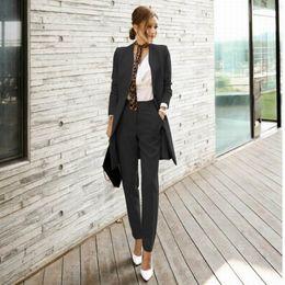 2019 pantalone da donna Le donne di alta qualità vestito stabilito signore dell'ufficio del lavoro di usura delle donne OL Pant abiti formali Donna Blazer giacca pantalone cinghia 2 Pezzi sconti pantalone da donna