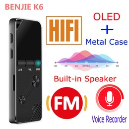 Wholesale Black Keys Mp3 - Wholesale-New Portable Original BENJIE 8GB Speaker mp3 music player lossless HiFi MP3 audio player metal MP3 FM radio One-key A-B repeat