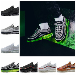 new york a6b15 3c84e Nike Air Vapormax 97 2018 New 97 Plus Hybrid Running Shoes hombres mujeres  Maxes Bullet 97s Japón OG Gold Black Reflect aire Silver deportes mens  Zapatillas ...