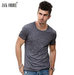JACK CORDEE moda camiseta hombres letra Slim Fit 100% algodón de bambú camiseta manga corta marca original diseño Tops camiseta desde fabricantes