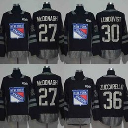 Wholesale Ranger Patches - New York Rangers Jersey 100 Anniversary Patch 27 Ryan McDonagh 30 Henrik Lundqvist 36 Mats Zuccarello Hockey Jerseys Black Fast Shipping
