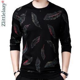 Camisa fina on-line-2018 designer de camisola pullover homens camisola fina jersey blusas de malha mens desgaste slim fit malhas roupas de moda 41241