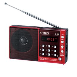 Wholesale Mp3 Player D - XHDATA D-38 FM-Stereo   MW   SW MP3-Player DSP Vollband Radio D38 (English German Japanese Russian user manual)