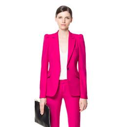 Mauve dame bureau affaires costume formel uniforme style mode costume élégant costume deux pièces (veste + pantalon) Slim section robe travail payer ? partir de fabricateur