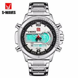 af16227ba912 Reloj analógico multifuncional LED para hombre Reloj analógico digital  completo para hombre de acero Reloj cómico para hombre Reloj deportivo de  moda ...
