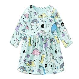 Ragazza Unicorno abito manica lunga in cotone animali Appliqued Natale Baby Dress  per bambini Abbigliamento Party Dress all ingrosso ef033a784dc