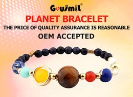 Wholesale Solar System Wholesalers - Universe Stone Beads Braided weave adjustable Eight Planets Solar System Galaxy Bracelet
