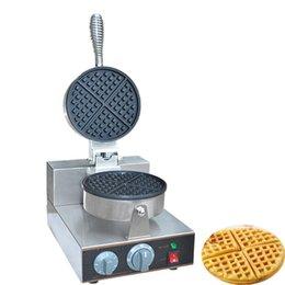 Qihang_top Snack Machines Electric 1-Plate Коммерческая вафельница Baker High Production Автоматическая машина для производства вафельных трубочек cheap make sticks от Поставщики делать палочки