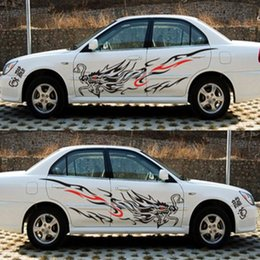 Wholesale Carbon Fiber Vehicle - auto decor 2pcs Universal Car Sticker Chinese Dragon Pattern The Whole Body Vehicle Vinyl Decals Graphics Car-styling Auto Decorations