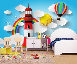 Wholesale Paper Poster Printing - papel de parede 3d cinema backdrop large posters Cartoon photo mural wallpaper for walls 3 d children room wall paper