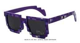 Wholesale Round Mosaic - Minecraft Glasses 8 bit Pixel Women Men Sunglasses Female Male Mosaic Sun Glasses kids Boys Girls Vintage