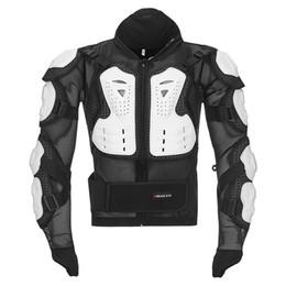 Motocicleta equitación trajes hombres online-Accesorios de motocicleta Armadura de motocicleta para hombres Ropa de armadura de cuerpo completo Traje de carreras Moto Cross Protección Moto Protectores de equitación Chaquetas S-4XL