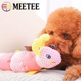 2019 brinquedos macios da lagarta MEETEE Pet Cachorro Cão Mastigar Som Squeaky Plush Som Brinquedos Engraçados Animais Macios caterpillar Animal Brinquedos DC-503