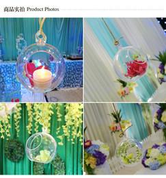 Canada Transparent Acrylique Ball Vase Bol Suspendus Air Terrarium Terrarium clairs Bougie Contenant De Mariage Manzanita Arbre Suspendus Décorations cheap acrylic hanging wedding decorations Offre