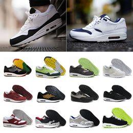 nike air max 87 airmax Neues Design 87 Ultra strickt beiläufige Schuhe für Männer, Mens 1 Mode athletischer Mann Sport Trainer beiläufige Schuhe Größe