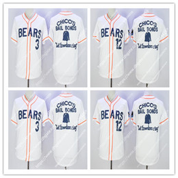 Wholesale men news - Men's Bad News Bears #12 Tanner Boyle #3 Kelly Leak Baseball Jersey Stitched Numbers S-XXXL Free Shipping