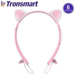 Wholesale Led Bunny Ears - NEW Tronsmart Bunny Ears Encore Wink Bluetooth Headphones Bluetooth 4.2 with LED Light wireless headphones headset